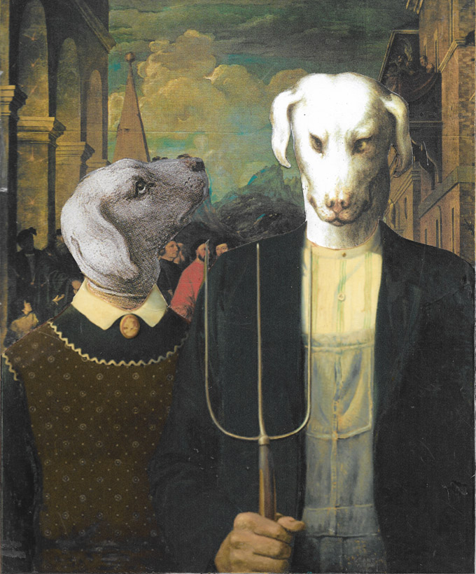 Canine American Gothic